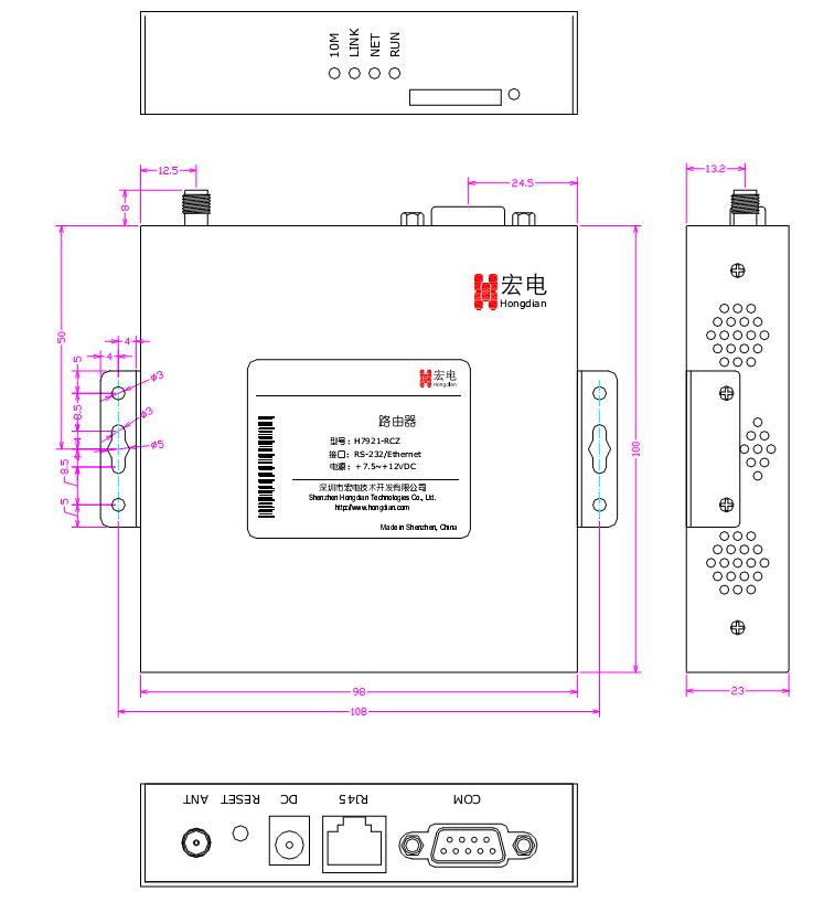 H7921 3G/LTE VPN ROUTER размеры